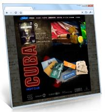 Сайт ночного клуба «CUBA»